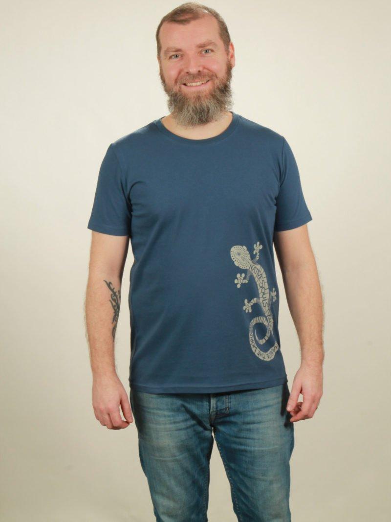 Herren-T-Shirt Gecko - dark blue - NATIVE SOULS