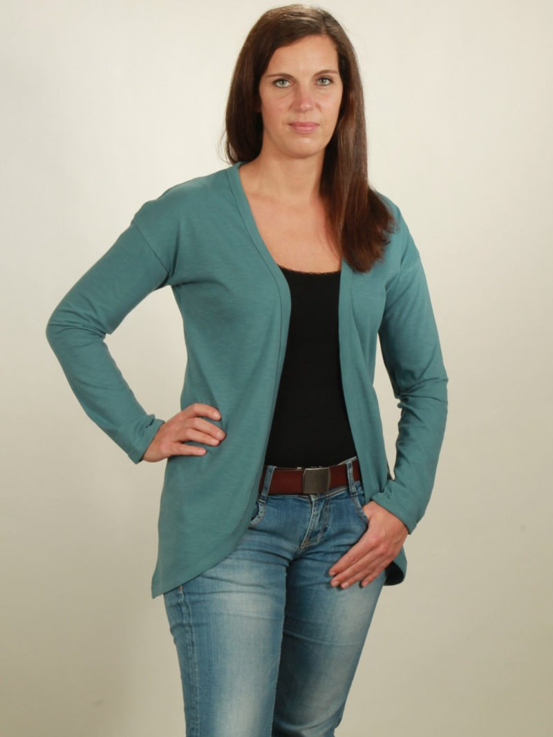 2001 slub cardigan light turquoise