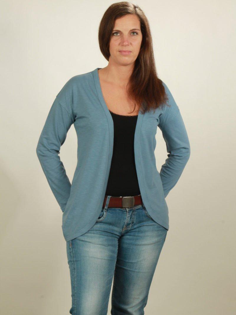 2001 slub cardigan light blue