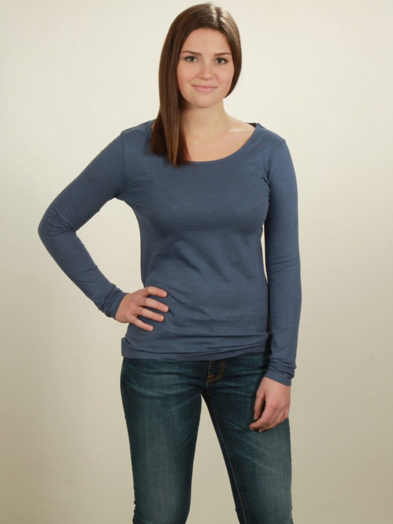 Longsleeve Damen basic in dark blue, von NATIVE SOULS