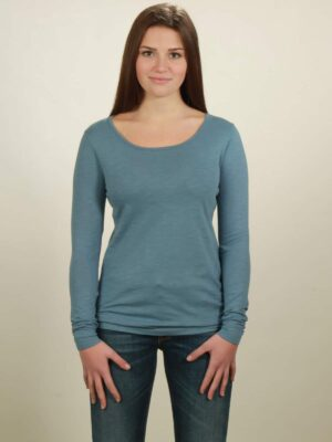 Damen-Longsleeve basic in light blue, von NATIVE SOULS