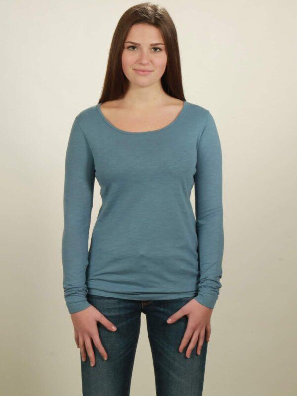 Damen-Longsleeve basic in light blue, von NATIVE SOULS