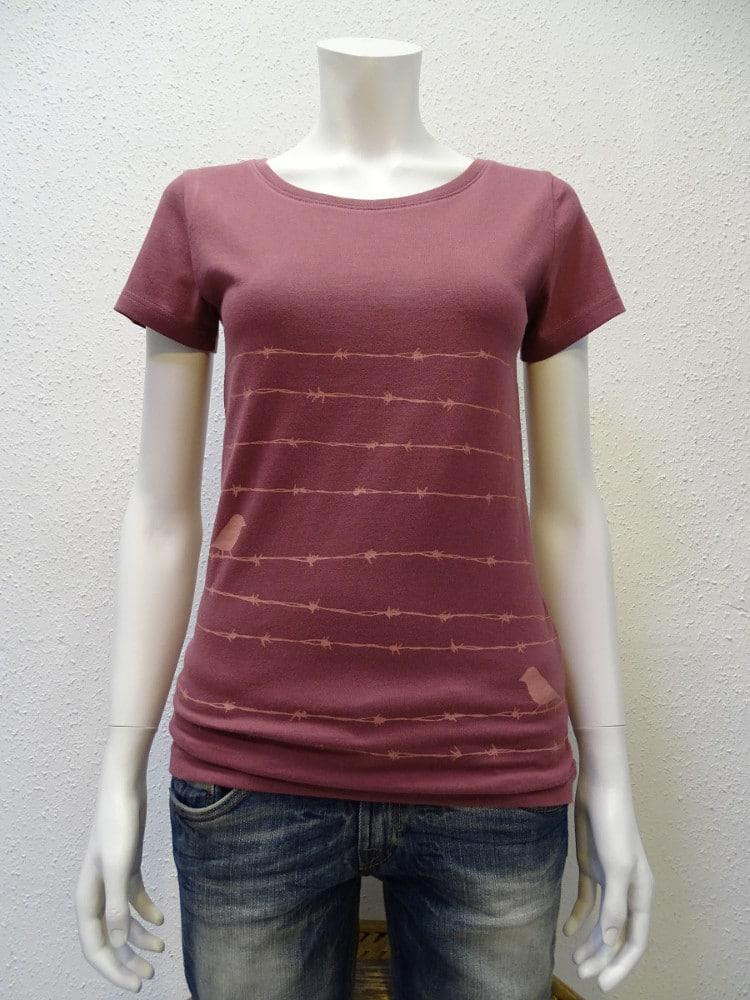Damen T-Shirt Barbwire - berry - NATIVE SOULS