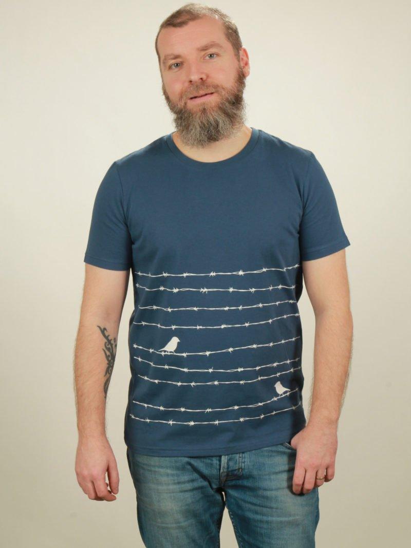 Herren-T-Shirt Barbwire - dark blue - NATIVE SOULS