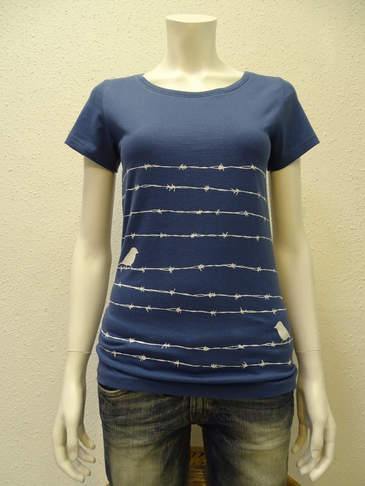 Damen T-Shirt Barbwire - dark blue - NATIVE SOULS