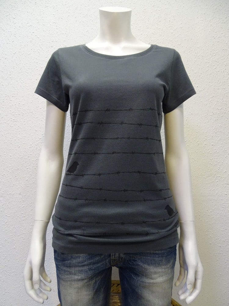 Damen T-Shirt Barbwire - dark grey - NATIVE SOULS