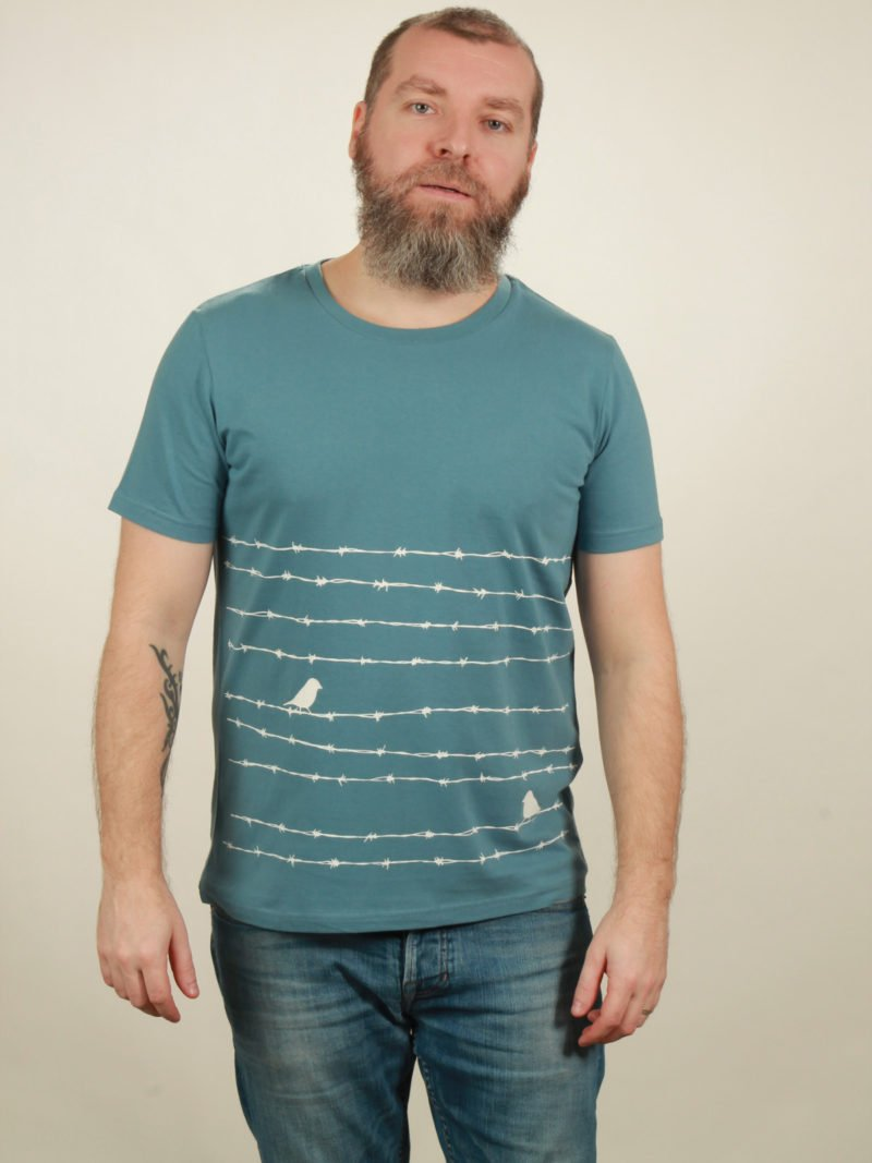 Herren-T-Shirt Barbwire - light blue - NATIVE SOULS