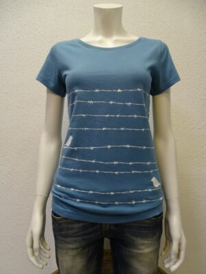 Damen T-Shirt Barbwire - light blue - NATIVE SOULS