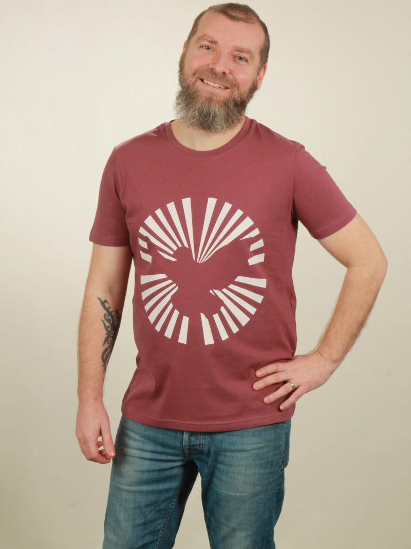Herren-T-Shirt Dove Sun - berry - NATIVE SOULS