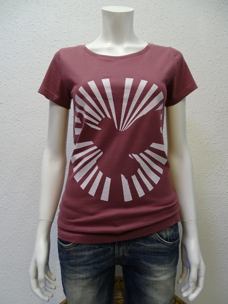 Damen T-Shirt Dove Sun - berry - NATIVE SOULS