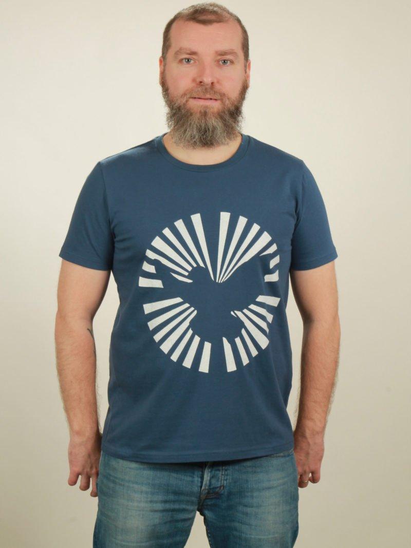 Herren-T-Shirt Dove Sun - dark blue - NATIVE SOULS