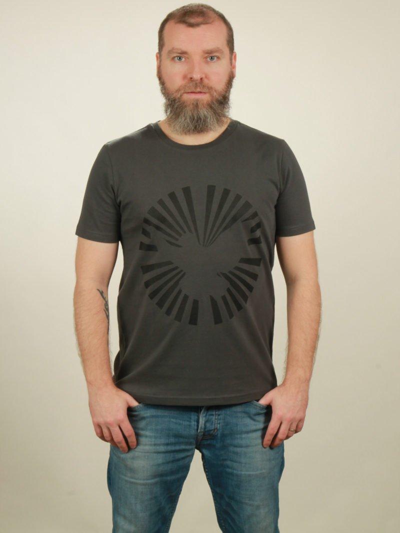 Herren-T-Shirt Dove Sun - dark grey - NATIVE SOULS