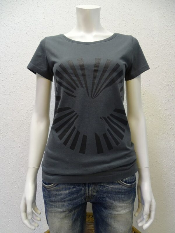 Damen T-Shirt Dove Sun - dark grey - NATIVE SOULS