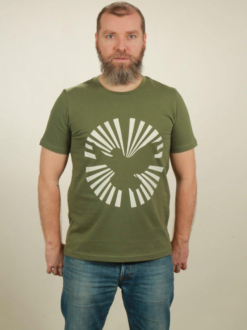 Herren-T-Shirt Dove Sun - green - NATIVE SOULS
