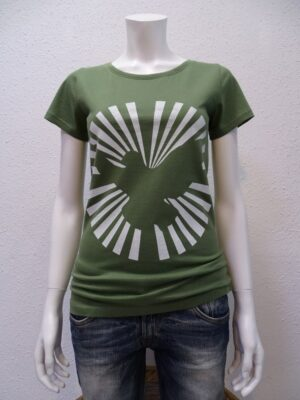Damen T-Shirt Dove Sun - green - NATIVE SOULS