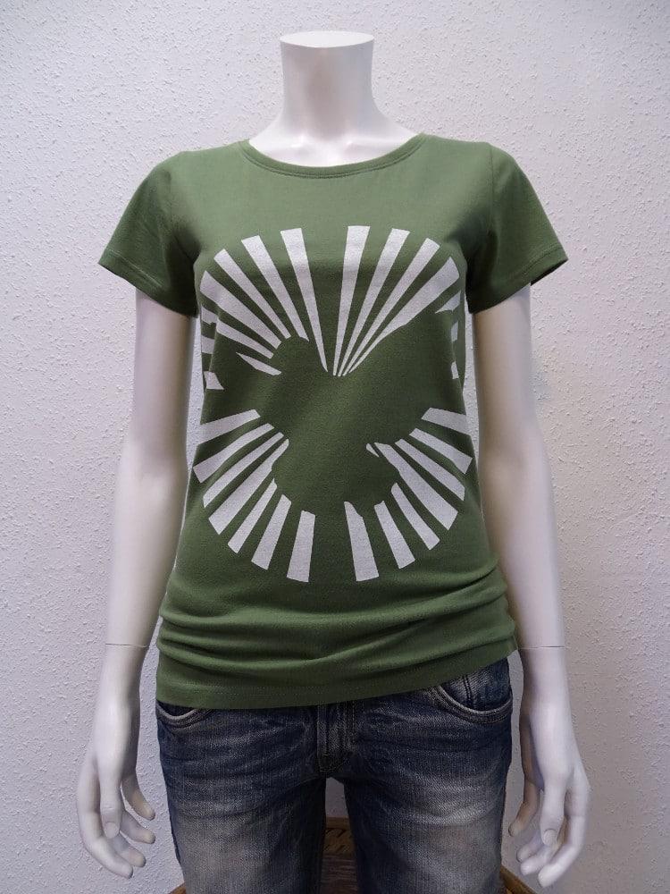 Damen T-Shirt Dove Sun - green - NATIVE SOULS