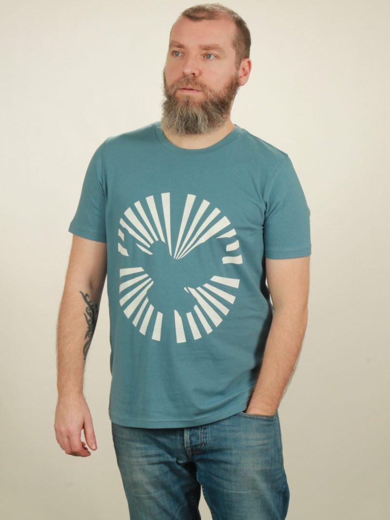 Herren-T-Shirt Dove Sun - light blue - NATIVE SOULS