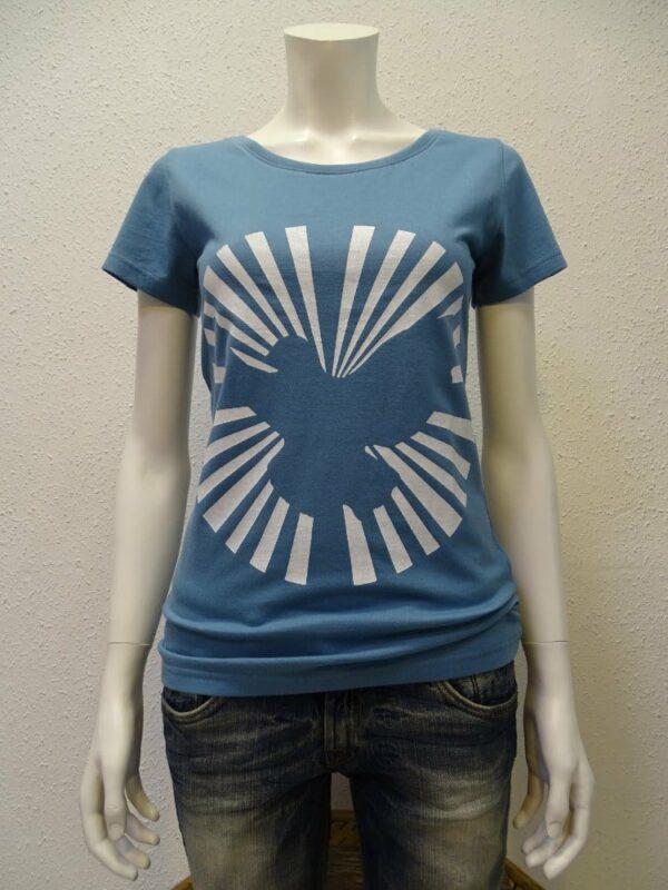 Damen T-Shirt Dove Sun - light blue - NATIVE SOULS