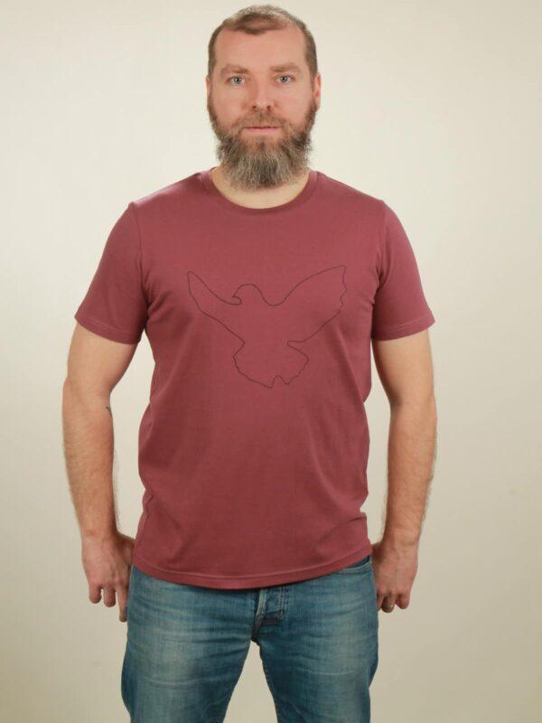 Herren-T-Shirt Dove - berry - NATIVE SOULS