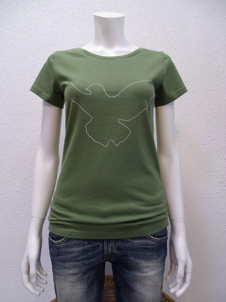 Damen T-Shirt Dove - green - NATIVE SOULS