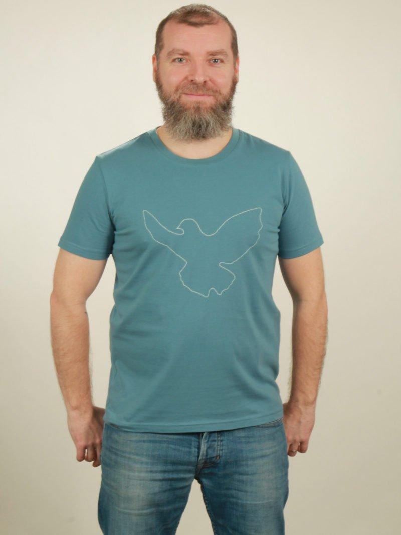 Herren-T-Shirt Dove - light blue - NATIVE SOULS