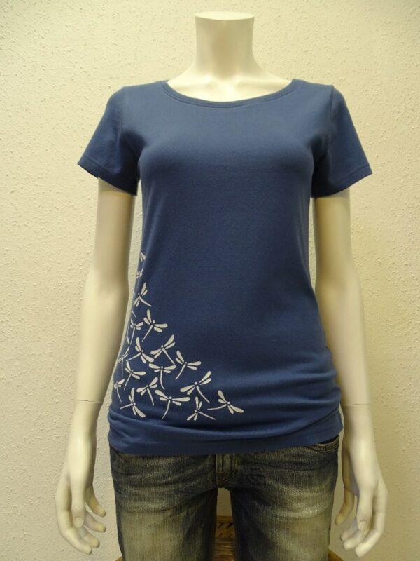 Damen T-Shirt Dragonfly - dark blue - NATIVE SOULS