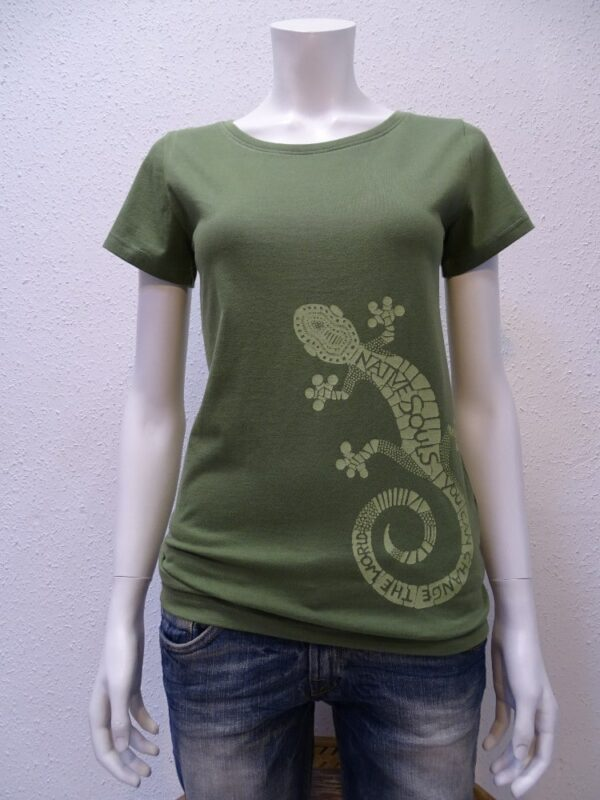 Damen T-Shirt Gecko - green - NATIVE SOULS