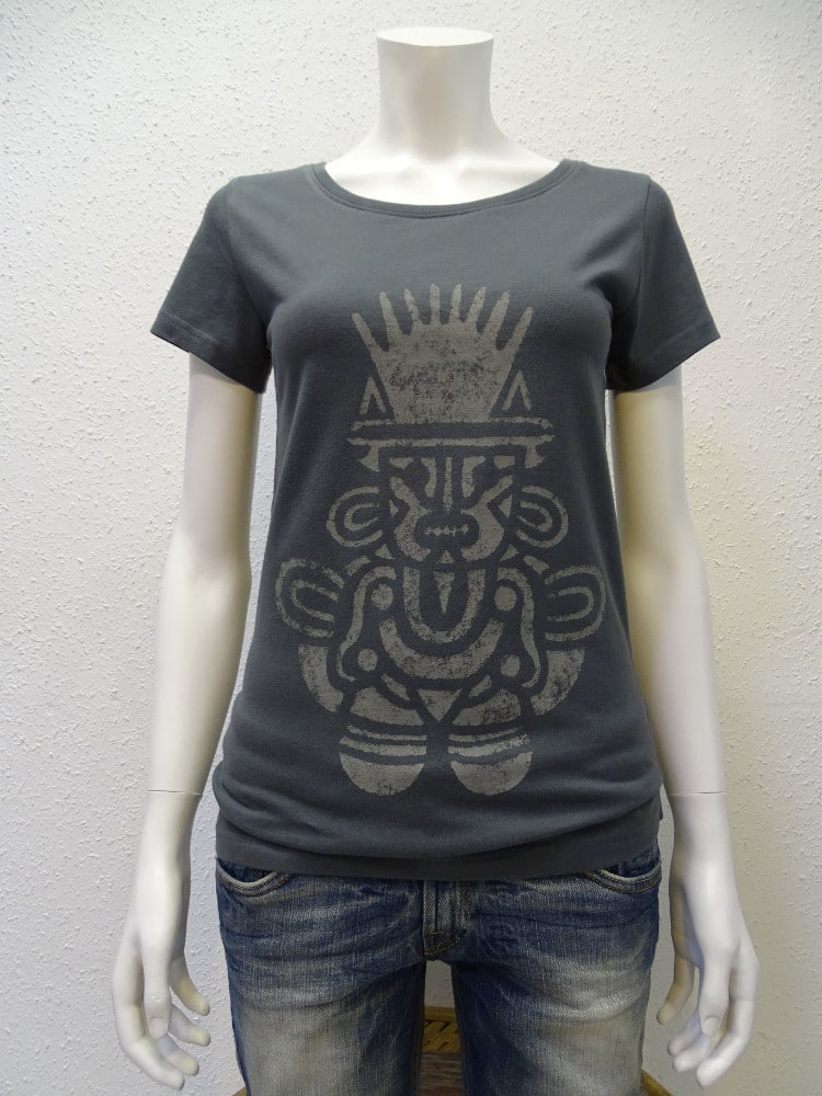 Damen T-Shirt Inka - dark grey - NATIVE SOULS