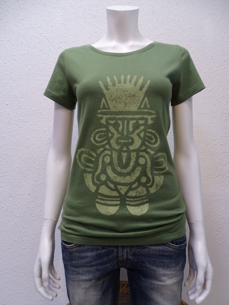 Damen T-Shirt Inka - green - NATIVE SOULS