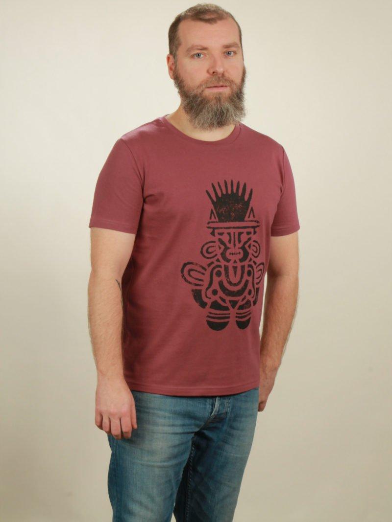 Herren-T-Shirt Inka - berry - NATIVE SOULS