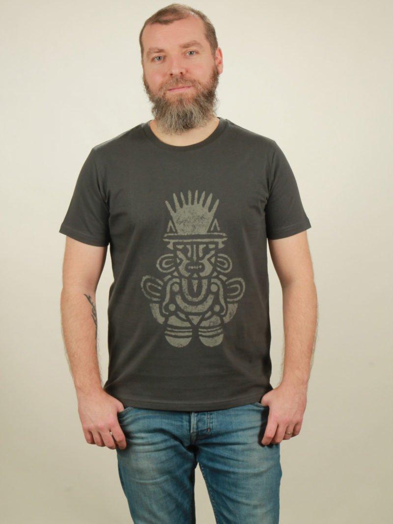 Herren-T-Shirt Inka - dark grey - NATIVE SOULS