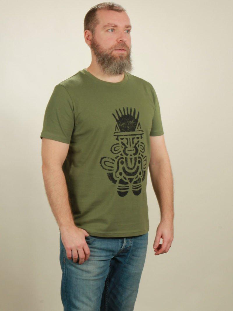 Herren-T-Shirt Inka - green - NATIVE SOULS