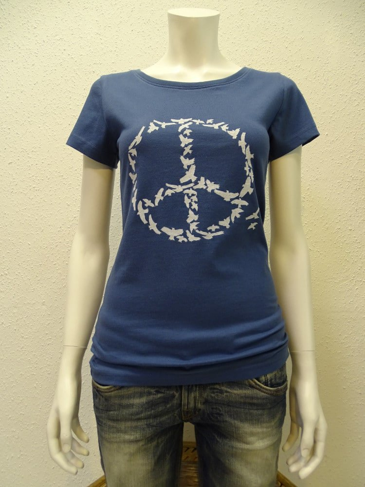 Damen T-Shirt Peace - dark blue - NATIVE SOULS