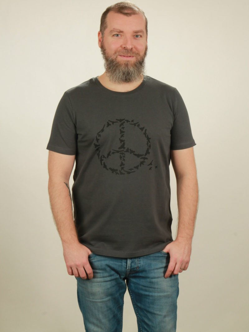 Herren-T-Shirt Peace - dark grey - NATIVE SOULS