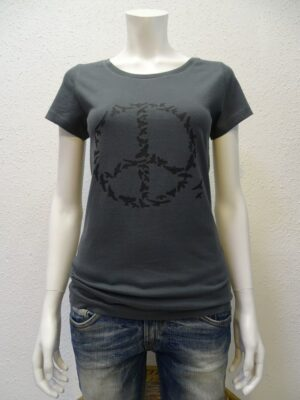 Damen T-Shirt Peace - dark grey - NATIVE SOULS