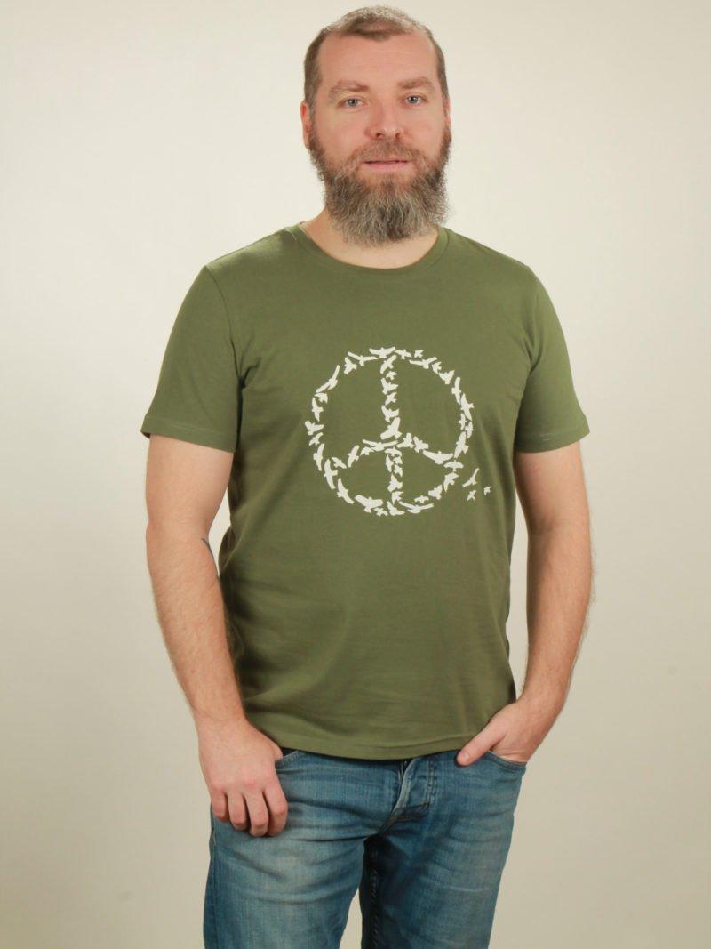 Herren-T-Shirt Peace - green - NATIVE SOULS