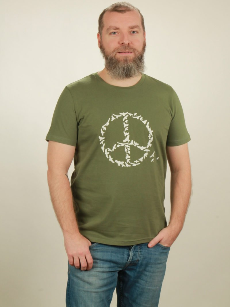 Herren-T-Shirt Peace - green - NATIVE SOULS