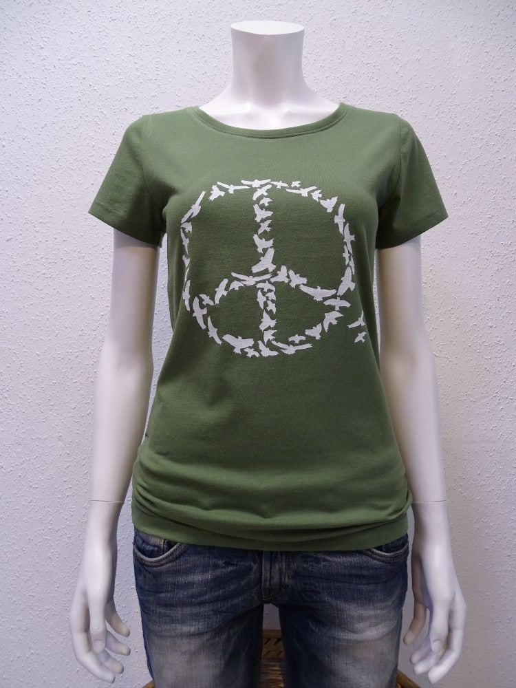 Damen-T-Shirt Peace - green - NATIVE SOULS