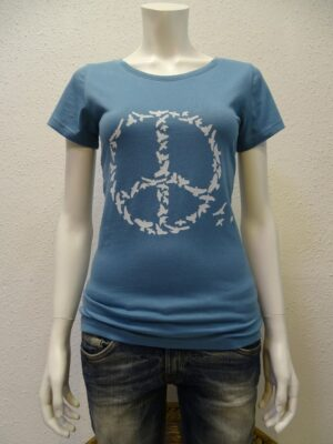 Damen-T-Shirt Peace - light blue - NATIVE SOULS