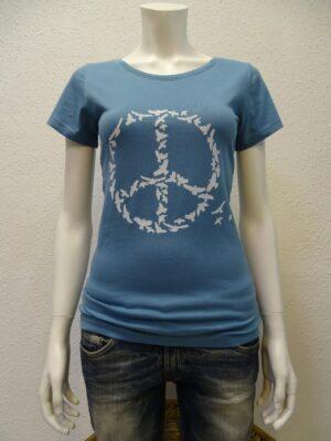 Damen-T-Shirt Peace - light blue - NATIVE SOULS