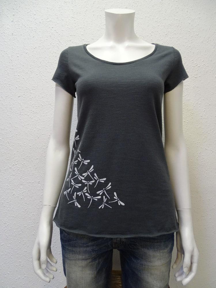 Slub-T-Shirt Damen Dragonfly, dark grey, von NATIVE SOULS
