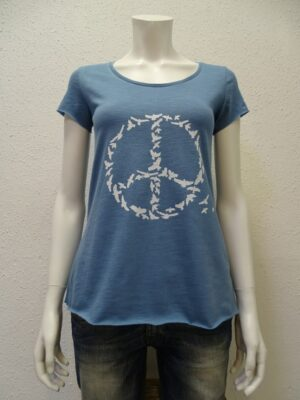 Slub-T-Shirt Damen Peace, light blue, von NATIVE SOULS