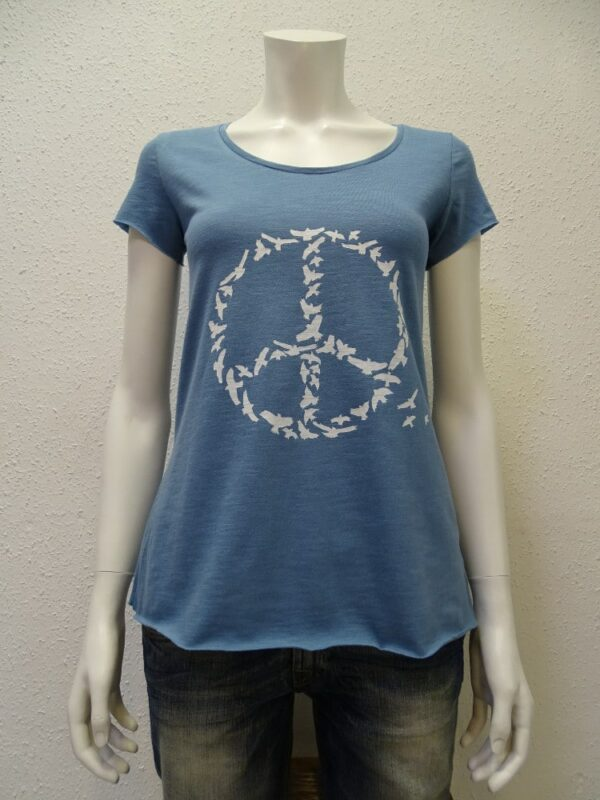Slub-T-Shirt Damen Peace, light blue, von NATIVE SOULS