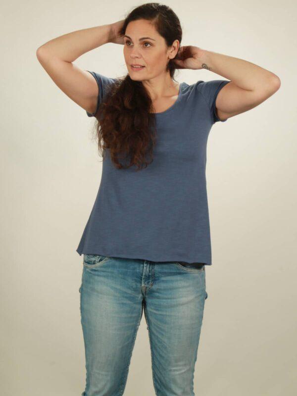 Slub-T-Shirt Damen in dark blue, von NATIVE SOULS