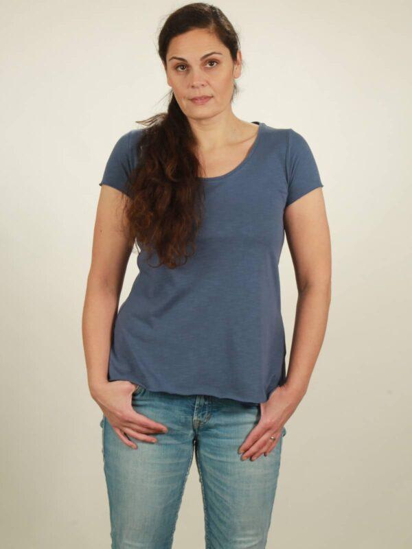 slub t-shirt dark blue