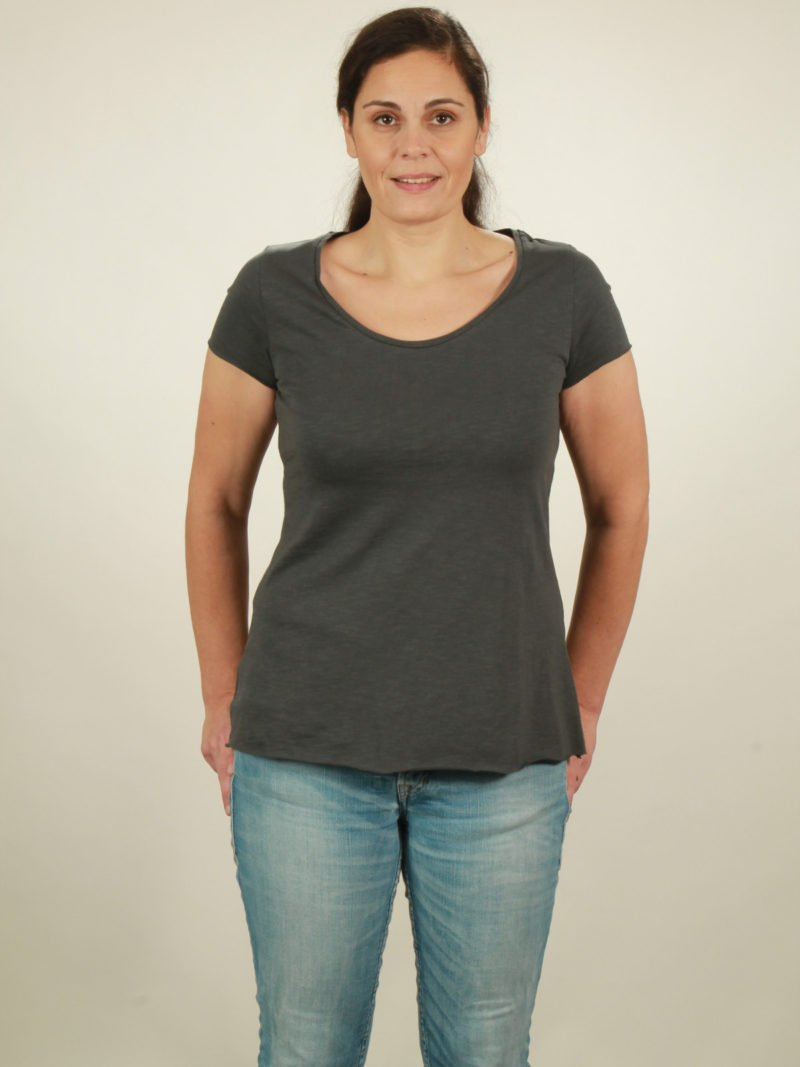 Slub-T-Shirt Damen in dark grey, von NATIVE SOULS