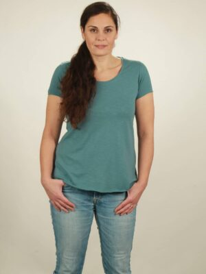 slub t-shirt light turquoise