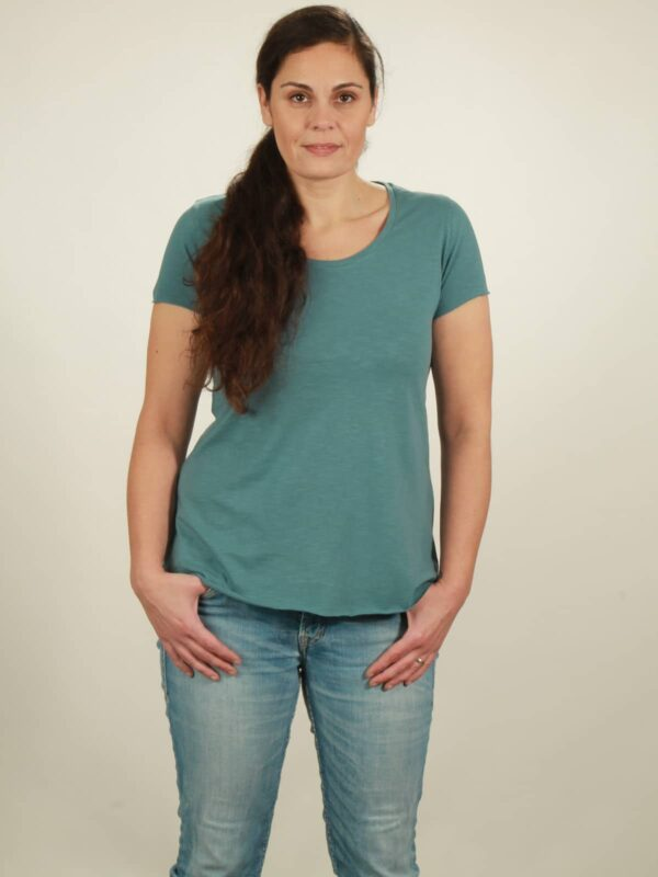 slub t-shirt light turquoise