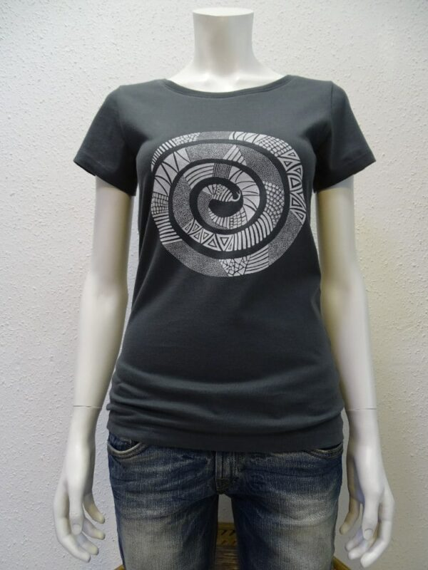 Damen T-Shirt Snake - dark grey - NATIVE SOULS