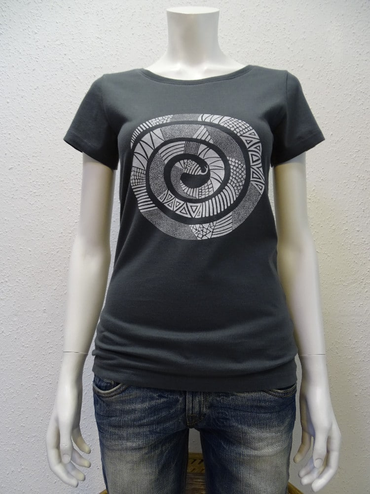 Damen T-Shirt Snake - dark grey - NATIVE SOULS